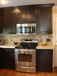 Plain Painted Brown Kitchen Cabinets Before And After Glazed O With Inspiration