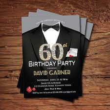 60 birthday invitations casino 60th birthday invitation adult man birthday party invitation