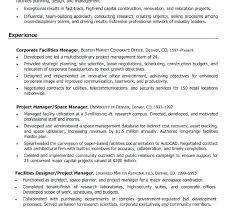 Facility Manager Resume Best Consent Form Images On Patterns And
