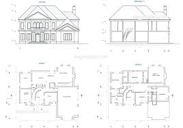 plans house plan 3 bedroom plans free south unique 4 cad drawings