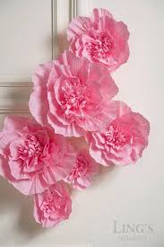 Paper Flower Archway Lings Moment Paper Flower Decorations 6 X Deep Pink Crepe