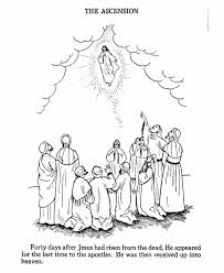 Small Picture Easter Bible Coloring page Ascension of Jesus celebrating