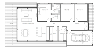 Small House plan CH in modern contemporary architecture  Small        small houses   house plan CH  jpg