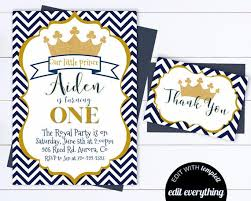 Boys Birthday Party Invitations Templates Prince Birthday Invitation Template Boy Birthday Party Invite Prince Birthday Invitation Navy And Gold Boy Birthday Invite Prince Birthday