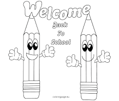 Back To School Kindergarten Coloring Pages School Coloring Sheets