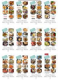 Easy Weekly Meal Plan Week 85 Family Fresh Meals