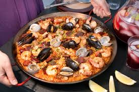 Paella Mixta (Paella with Seafood and ...