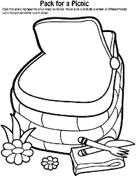 Small Picture Pack for a Picnic Coloring Page crayolacom