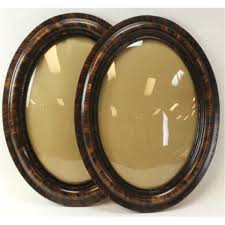 antique oval picture frames. One Pair Antique Picture Frames Oval With Original Bubble Glass And Finish, 25\ R
