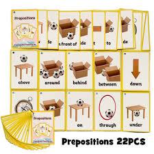 <b>24Pcs</b>/<b>Set</b> Children Prepositions English Cognitive Flash Card ...
