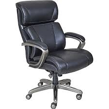 staple office chair. LaZBoy Nexus Leather Executive Office Chair Fixed Arms Black Staple O