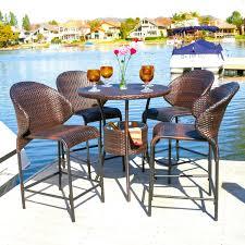 wicker bar height dining table: winn  piece wicker patio bar height dining furniture set bar height patio dining sets mainstays palmerton landing  piece bar height patio dining set