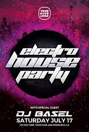 Party Templates Electro House Party Flyer Template For Photoshop Awesomeflyer Com