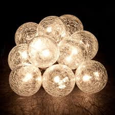 lighting strings. Hanging Light String - Cracked Glass Balls. Zoom Lighting Strings O
