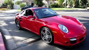 8,100 mile 2009 Porsche 911 Turbo Coupe Guards Red Black contrast ...