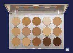 kryolan professional make up hd micro foundation cream palette 15 colors kryolan makeup