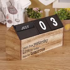 handmade wooden calendar diy desktop home crafts desk calendar stand numbers letters painted ornaments jjbj003 in figurines miniatures from home