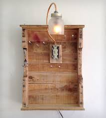 Hanging Necklace Organizer Reclaimed Wood Hanging Jewelry Organizer Home Furniture