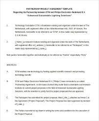 Partnership Agreement Between Companies Partnership Agreement 20 Free Word Pdf Documents