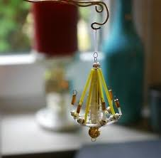 Details Zu Antiker Glas Kronleuchter Lauscha Gablonz Puppenstube Christbaumschmuck 88 Cm