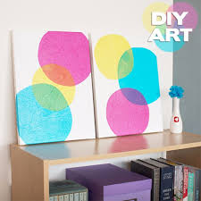 diy bubbles art painting