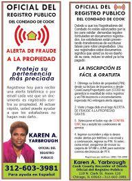 Cook County Recorder Of Deeds Karen Yarbrough Espanol