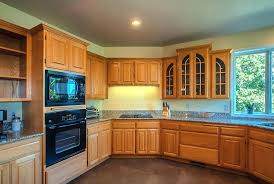 kitchen wall colors with oak cabinets. Honey Oak Cabinets Kitchen Wall Color With Grey Floors Dark Wood Colors