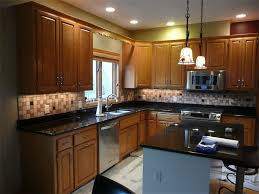 Mosaic Tiles Backsplash Kitchen Cabinets To Go Raleigh Nc Granite Peninsula  Countertop Kitchen Double Sink Price Pfister Avalon Faucet