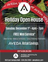 christmas open house flyer aveda institute madison holiday open house tuesday december 1st