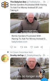 Bernie Sanders Meme I Am Once Again ...