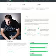 Online Resume Website Template Free Ceciliaekici Com