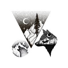 Temporary Tattoo Buy Mountain Wolf Black And White