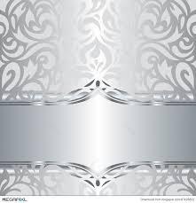 Free Invitation Background Designs Shiny Silver Floral Holiday Vintage Invitation Background Design