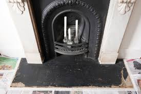 how to paint a concrete fireplace hearth