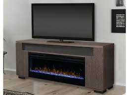 electric fireplace with media console tv stand glass embers
