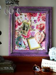 how to turn a picture frame into a cork message board