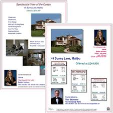 mortgage flyer template open house finance option flyers fha va loan calculations and
