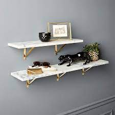 marble wall mounted shelves cb2 canada