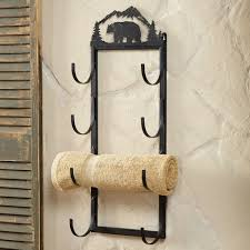 Rustic Towel Bars And Lodge Bathroom Accessories In Addition To Lovely Rolled  Towel Rack (View
