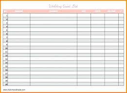 Printable Wedding Guest List Organizer Guest List Template For Wedding Get 4 Printable Wedding