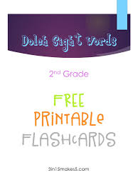 Dolch Sight Words Flashcards 2nd Grade 3 In 15 Makes 5