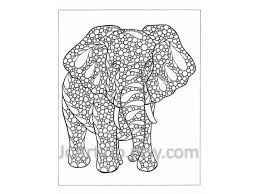 Small Picture Coloring Page Elephant Zentangle Inspired Printable by JoArtyJo
