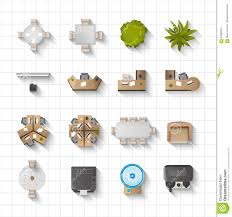 designer office desk isolated objects top view. Office Interior Icons Top View Royalty Free Stock Photo Designer Desk Isolated Objects ,