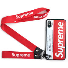 Designer Phone Lanyards Phone Case For Iphone X Iphone Xs Street Fashion Designer Soft With 2 Lanyard Hand Strap Case Cover Iphone X Xs Red