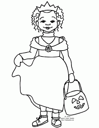 halloween costumes coloring pages princess halloween costume