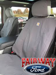 15 thru 18 f 150 genuine ford carhartt front captain chair seat covers gravel
