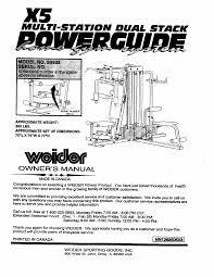 Weider 2980x Exercise Chart Pdf Weider 2980 Workout Chart Kayaworkout Co