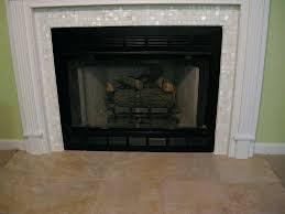 mosaic tile fireplace wall glass surround diy