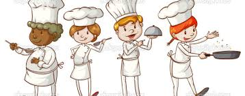 ОТЧЁТ по неделе творчества по профессии повар кондитер illustration of the simple sketches of chefs on a white background