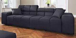 3 Sitzer Sofa Schwarz Polstermöbel Candy Modern